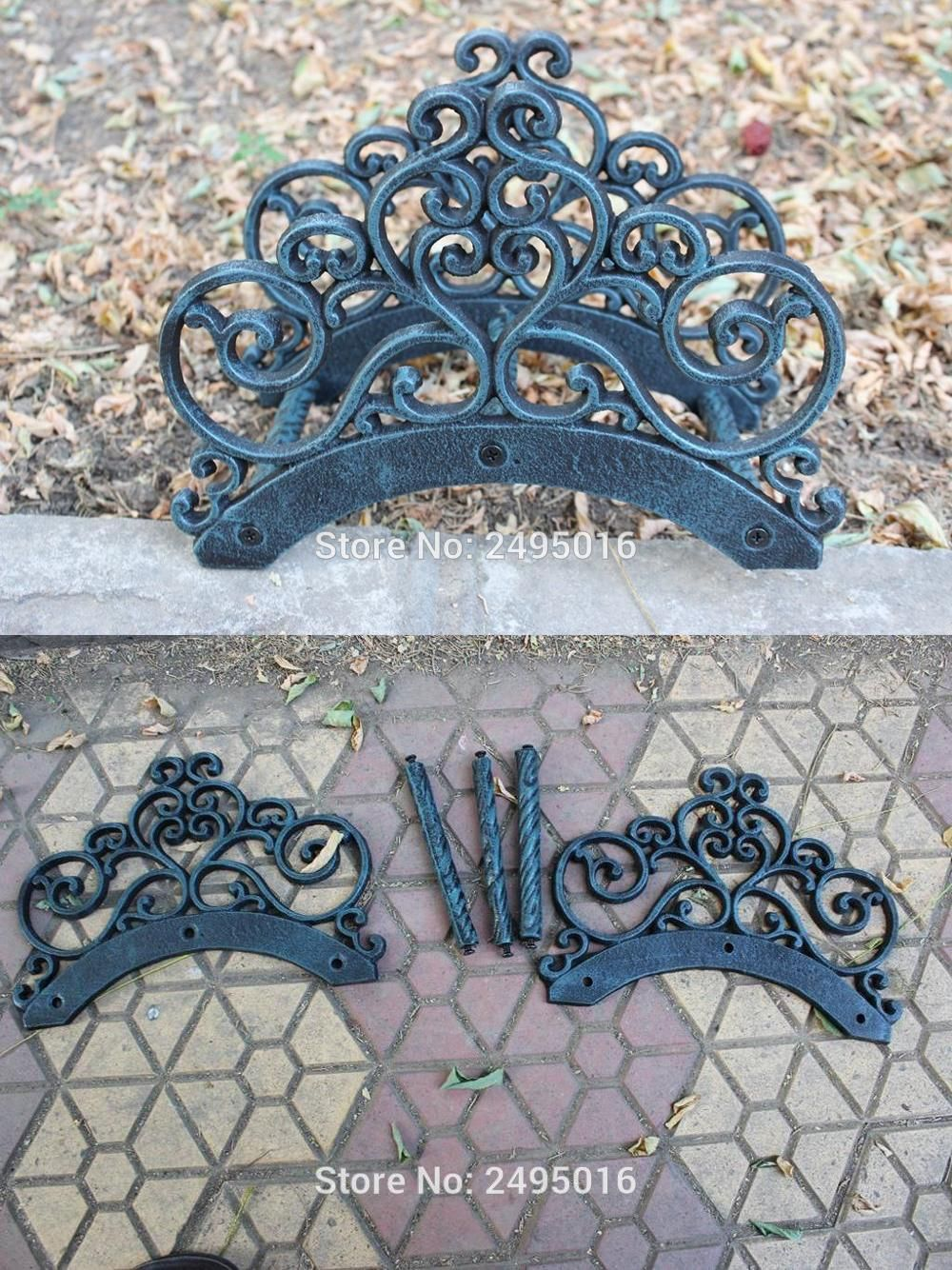 Visit to buy wrought iron new garden hose rack holder scrowl visit to buy wrought iron new garden hose rack holder scrowl outdoor decorative hose reel hanger cast iron antique rust wall mount free ship amipublicfo Image collections