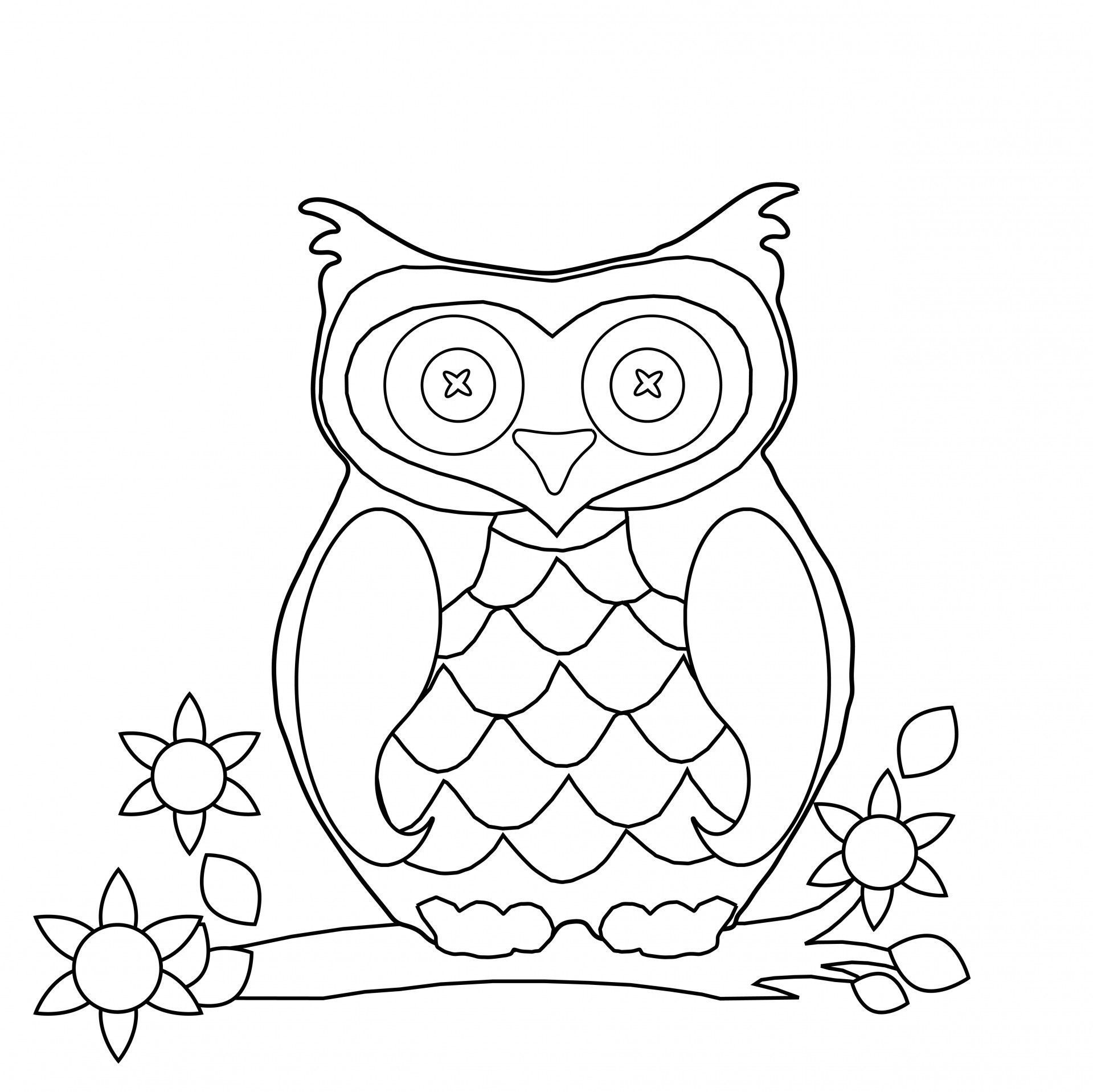owl+coloring+pages | Owl Coloring Page Clipart by Karen Arnold ...