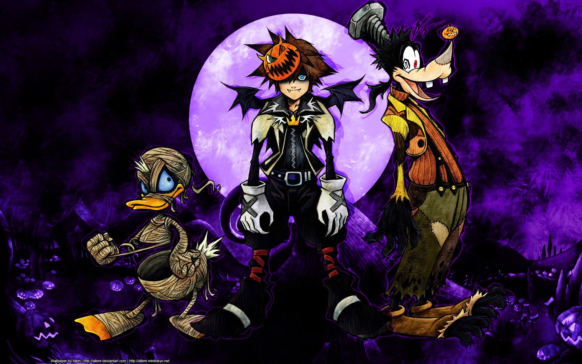 Kingdom Hearts disney halloween wallpaper | 1920x1200 | 48762 ...