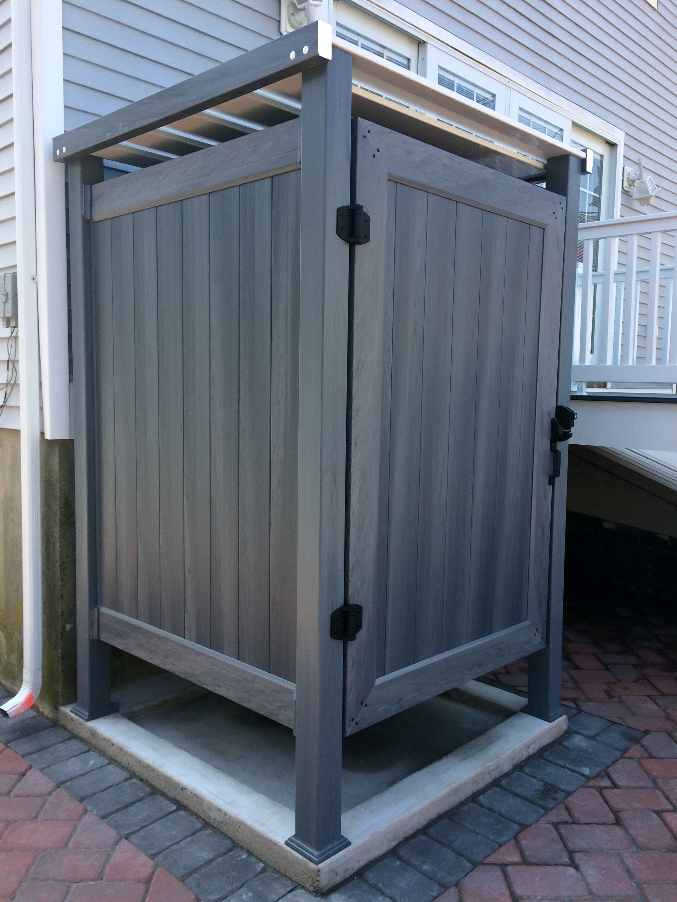 Pvc Outdoor Shower Enclosures Phoenix Manufacturing Outdoor Shower Enclosure Outdoor Bathroom Design Outdoor Bathrooms