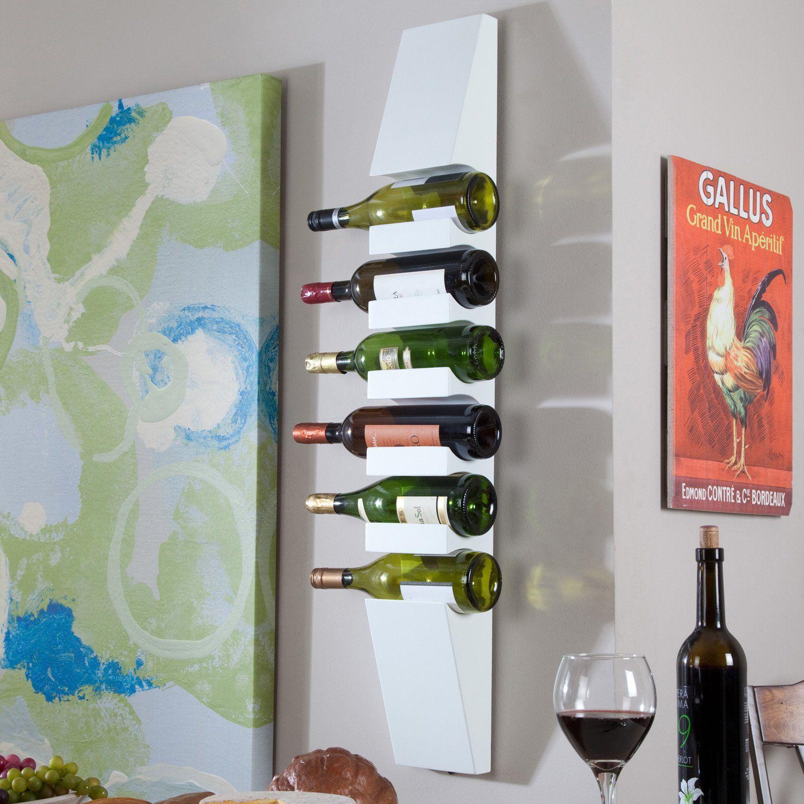 Milano Wall Wine Rack White 32 01