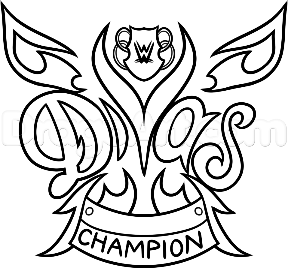 Wwe coloring games online - How To Draw The Wwe Diva Championship Belt Step By Step Sports
