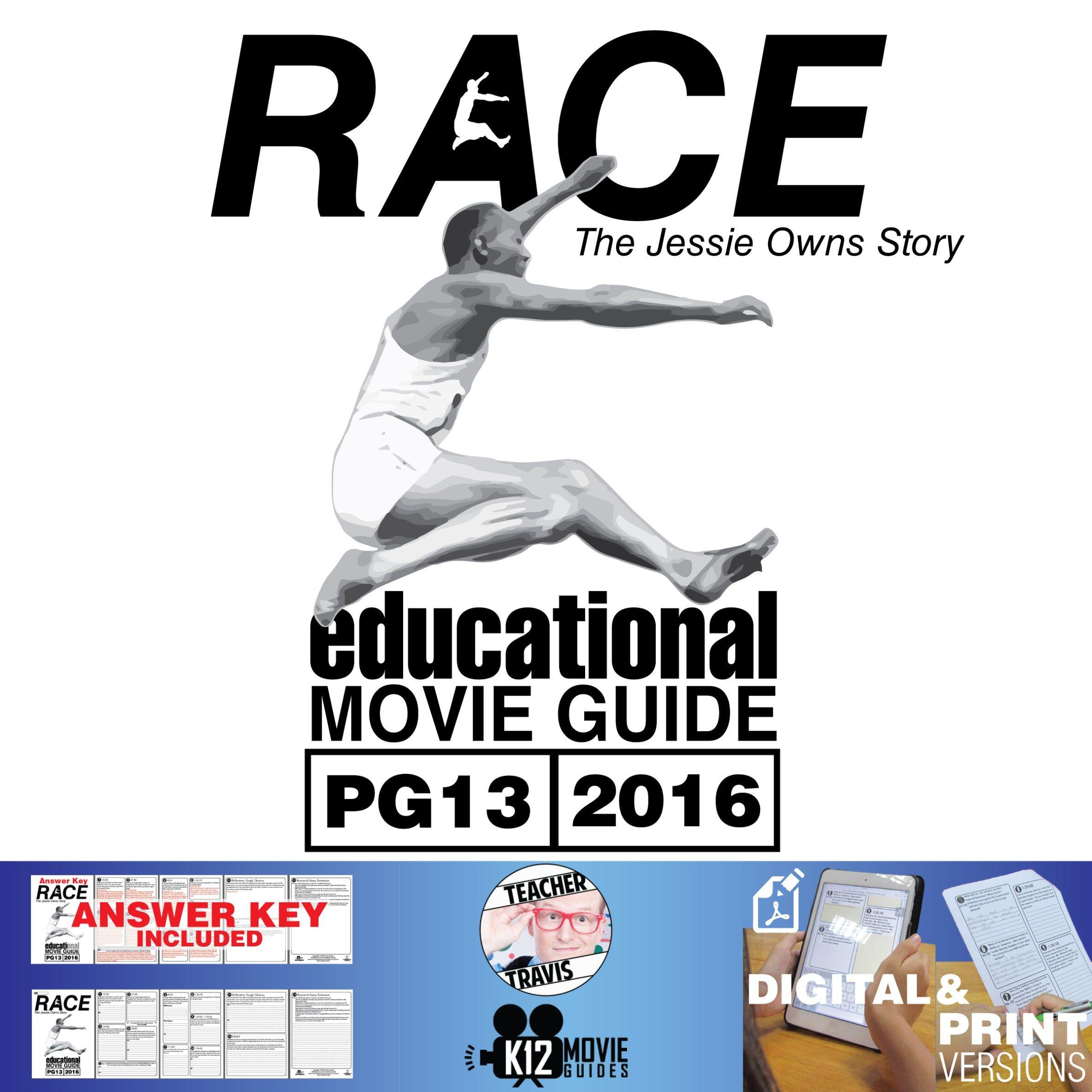 Race Jessie Owens Story Movie Guide