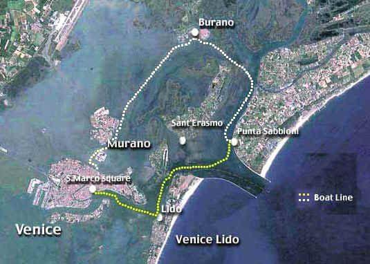 Schiffslinien Verbinden Cavallino Punta Sabbioni Mit Venedig