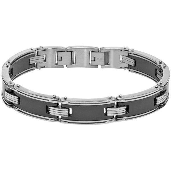 Ax Jewelry Men S Black Ceramic Stainless Steel Bracelet 49 Liked On Black Stainless Steel Bracelet Stainless Steel Bracelet Men Mens White Gold Bracelets