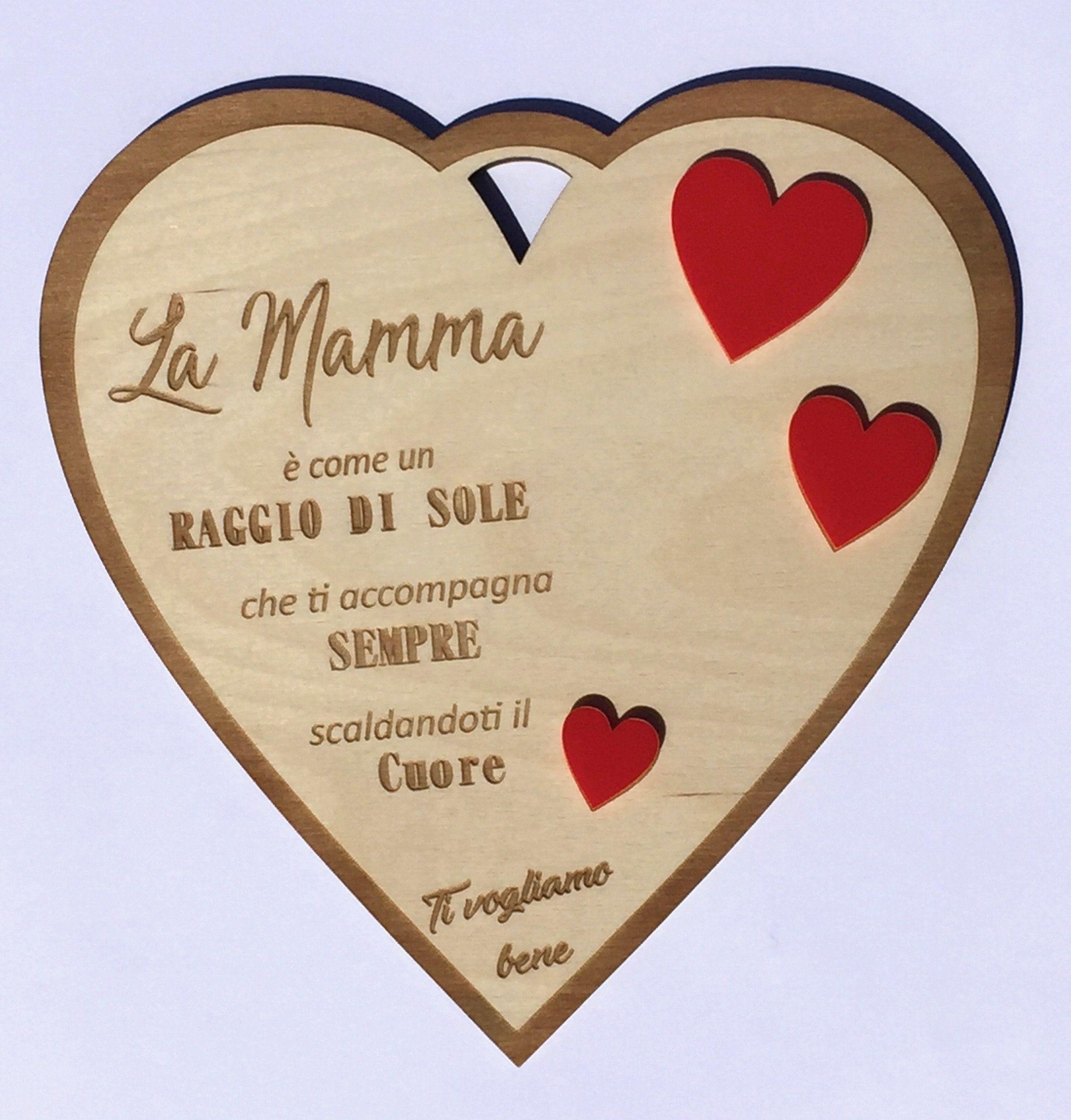 Plaque Heart Shape Gift Mother S Day Birthday Frasi