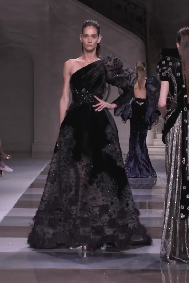Ziad Nakad Look 45 Fall Winter 2019 2020 Haute Couture Collection Artists Ceramics Collection Couture In 2020 Evening Dresses Elegant Fancy Dresses Dresses