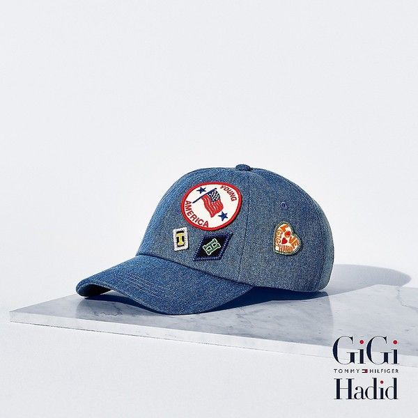 79c155ff027 Tommy Hilfiger Denim Cap Gigi Hadid ( 47) ❤ liked on Polyvore featuring  accessories