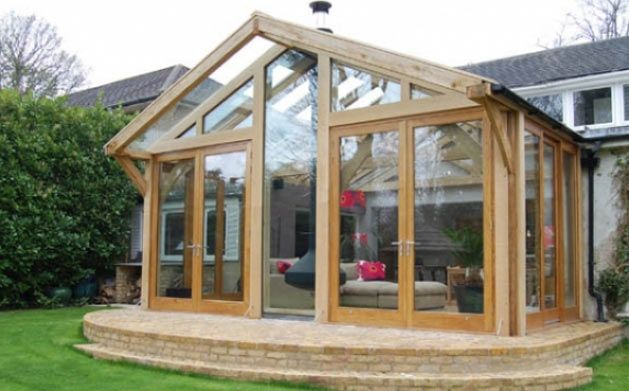 A well designed oak framed conservatory on what is for House plans with conservatory