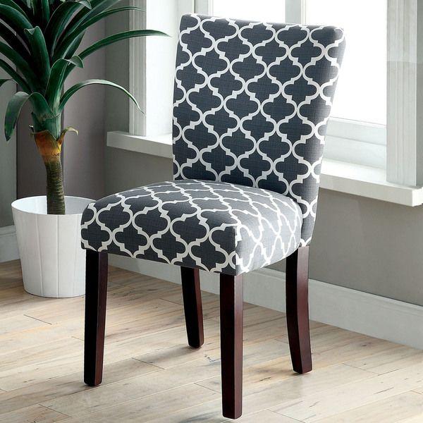 Furniture Of America Monterey Quatrefoil Pattern Accent Chair Set
