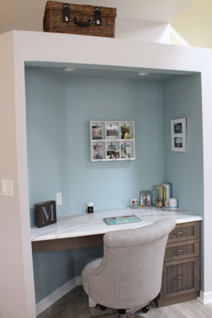 New office space (transformed the old kitchen pantry) | Kitchen ...