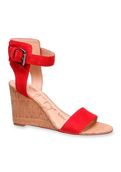 898c90f28f5a These sandals sport a classic cork wedge that will effortlessly turn heads  on any occasion! The clean-cut styling includes a fabulous contrast between  the ...