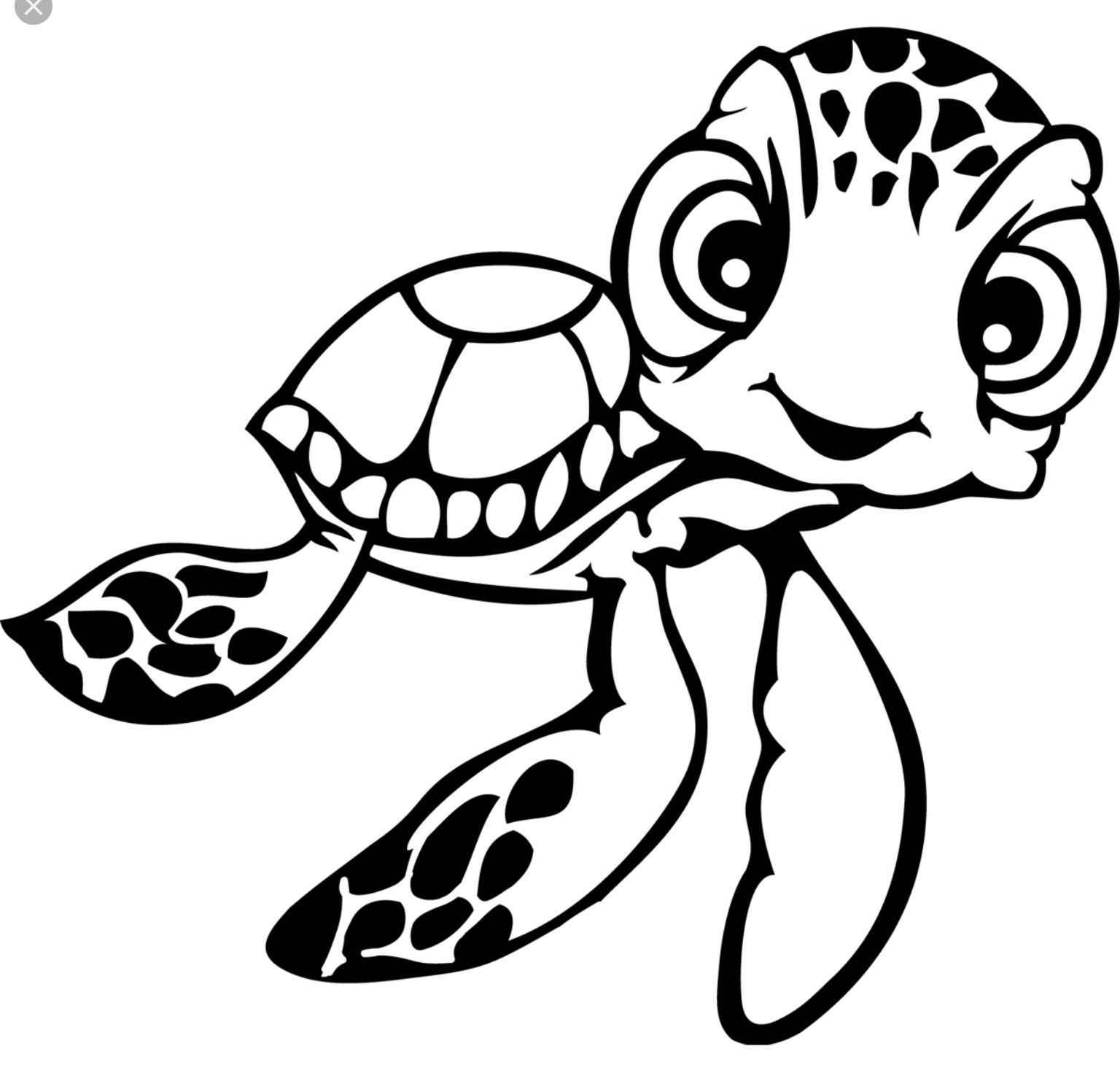 Pin by Susan Walters on Disney  Turtle drawing, Turtle coloring
