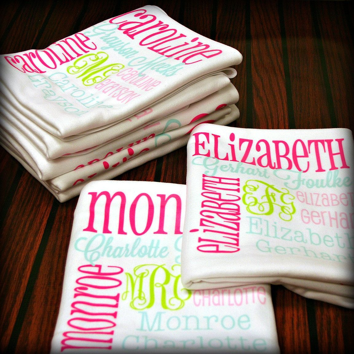 How flipping adorable are these theyll do up to 4 different personalized baby blanket monogrammed baby blanket name blanket swaddle receiving blanket baby shower gift photo prop birth announcement negle Image collections
