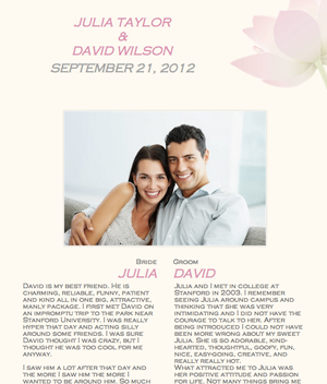 Great Free Easyto Navigate Wedbuddy Wedding Website Examples Of S Story Page
