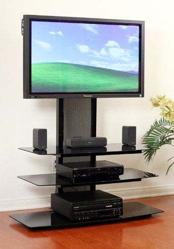 Amazon Com Transdeco Tv Stand With Universal Mounting System For