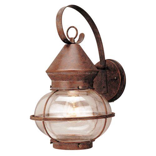 portfolio 1 light rustic bronze outdoor wall lantern item 109415 model outdoor wall. Black Bedroom Furniture Sets. Home Design Ideas