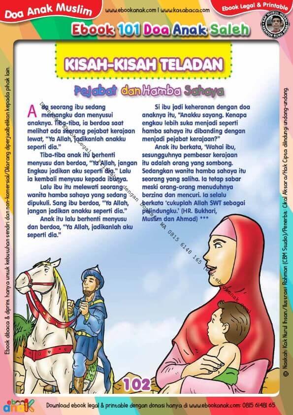 Ebook 101 Doa Anak Saleh Kisah Teladan Pejabat Dan Hamba Sahaya 104 Buku Buku Anak Doa