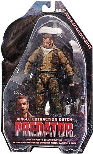 Neca 7 Predators Series 8 Jungle Extraction Dutch Schaefer Arnold Schwarzengger Action Figure