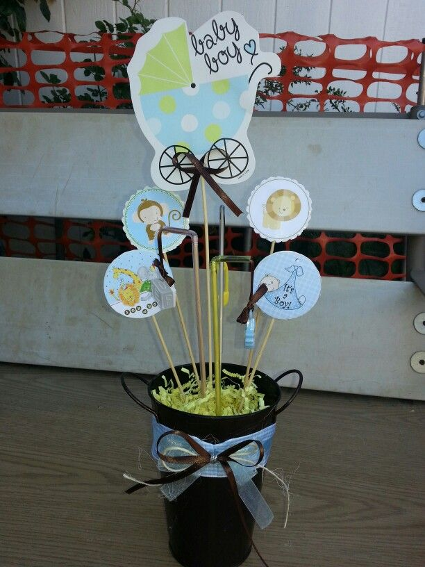 Baby Shower Centerpiece   Dollar Tree