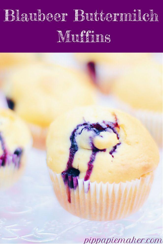 Blaubeer-Buttermilch Muffins - Pippa Pie-Maker