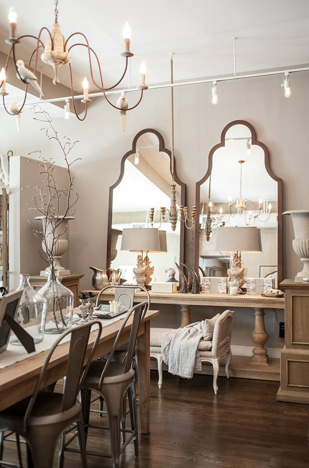 Mirrors Buffet Table Urns And Chairs Love It All