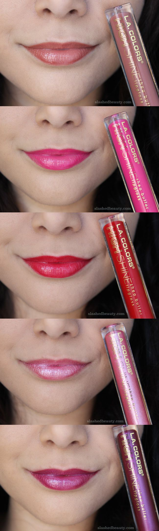 Can you believe this dollar store brand delivers such beautiful lipglosses? Click through for the full review of the L.A. Colors High Shine Shea Butter Lipglosses to see if their performance went beyond their pigmentation!
