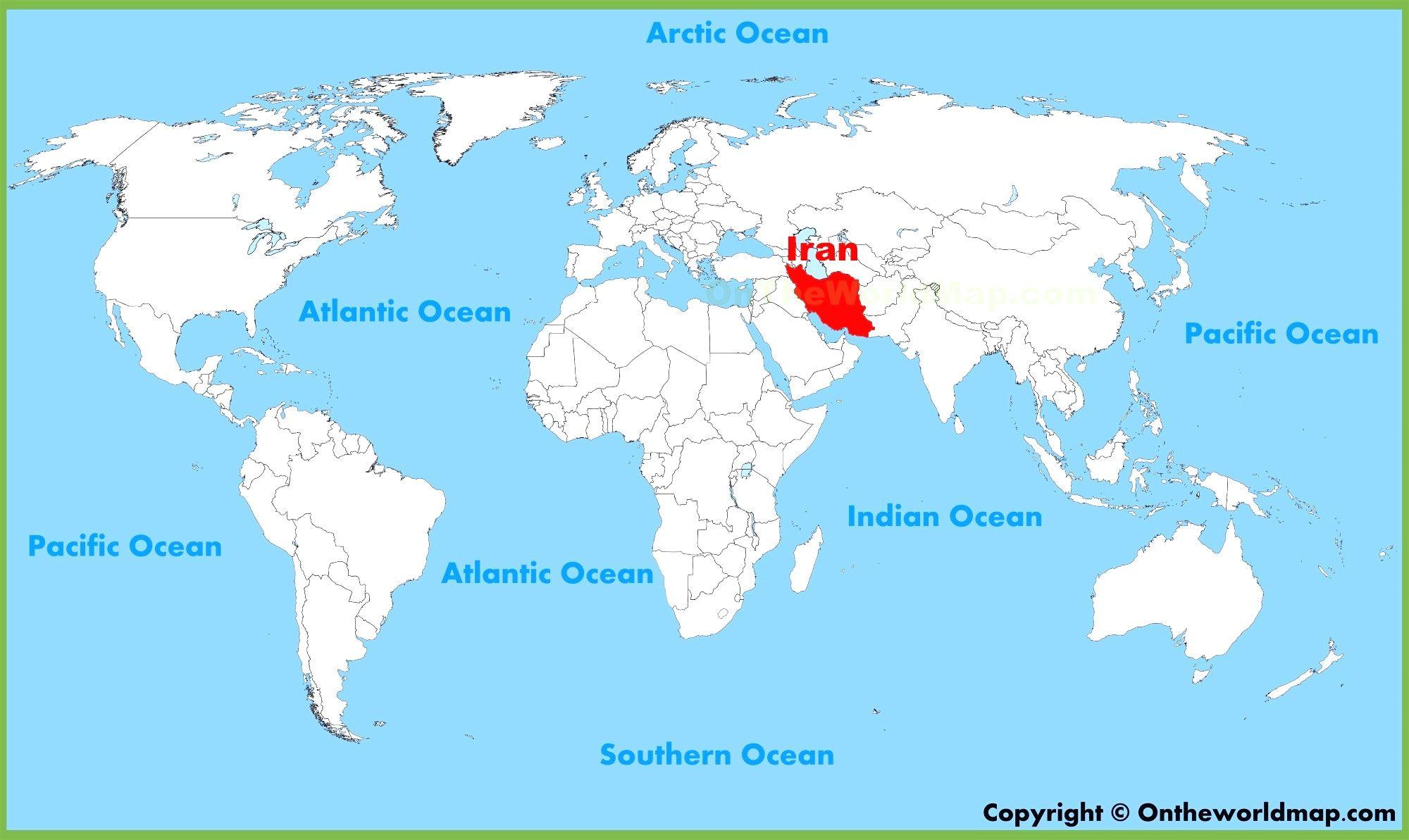 Iran World Map 1 Weltkarte Kontinente Weltkarte Vereinigte