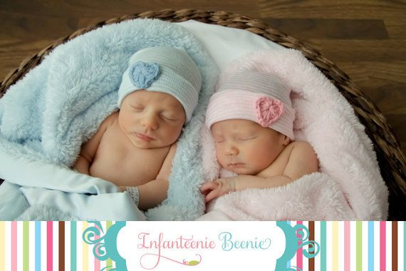 Lavender and pink twin newborn hats twin baby hats twin photo prop twin newborn sets baby twin hats