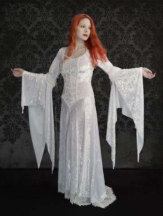 Sirenia Gothic Wedding Dress Fairy Dress In Black White Colors