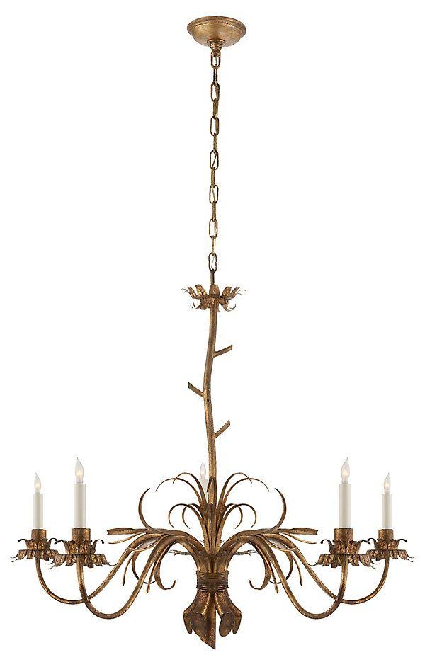 Emanuelle Chandelier Gilded Iron Elegant Illumination One Kings Lane
