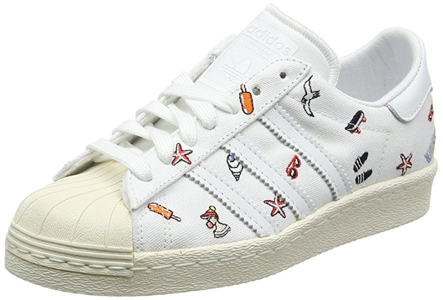 the latest 52d90 12cbc adidas Superstar 80s, Sneakers Basses Femme, Blanc (Footwear WhiteFootwear  White