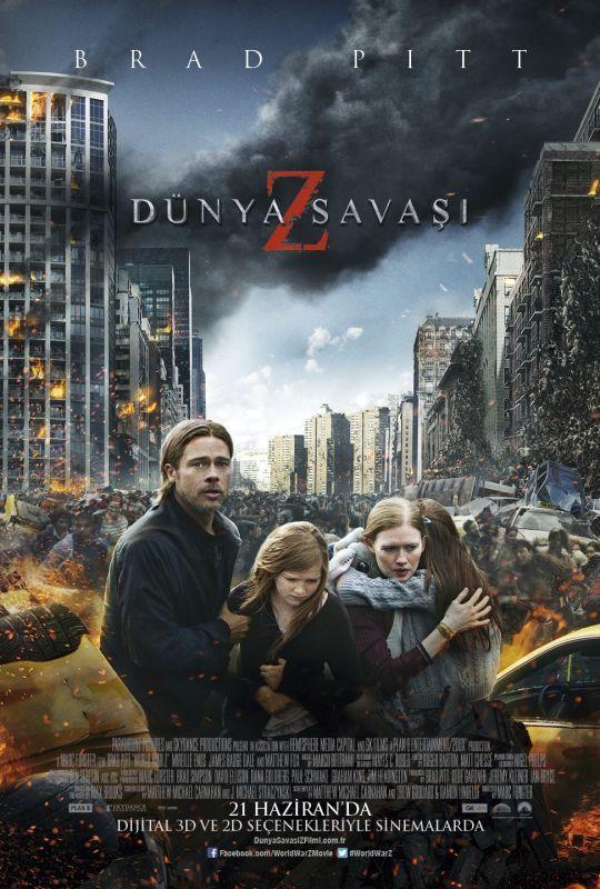 Dunya Savasi Z - World War Z - 2013 - BRRip Film Afis Movie Poster