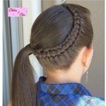 Trenza Con Cola De Medio Lado Trenzas De Ninas Peinados Para Ninas Peinados