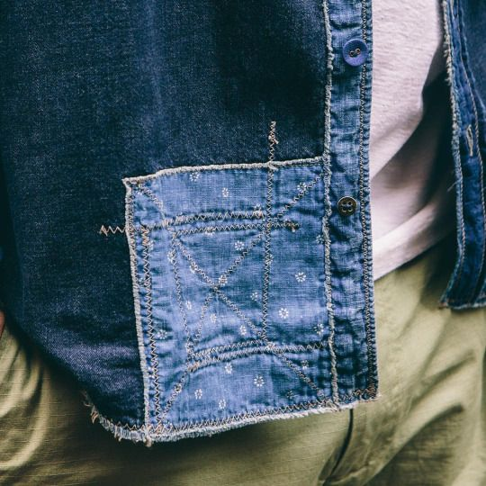 Introduce your own fabric embellishments to jeans and other clothing.