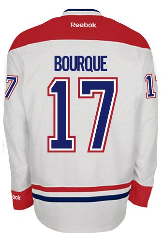 Montreal Canadiens Rene BOURQUE #17 Official Away Reebok Premier Replica NHL  Hockey Jersey (HAND