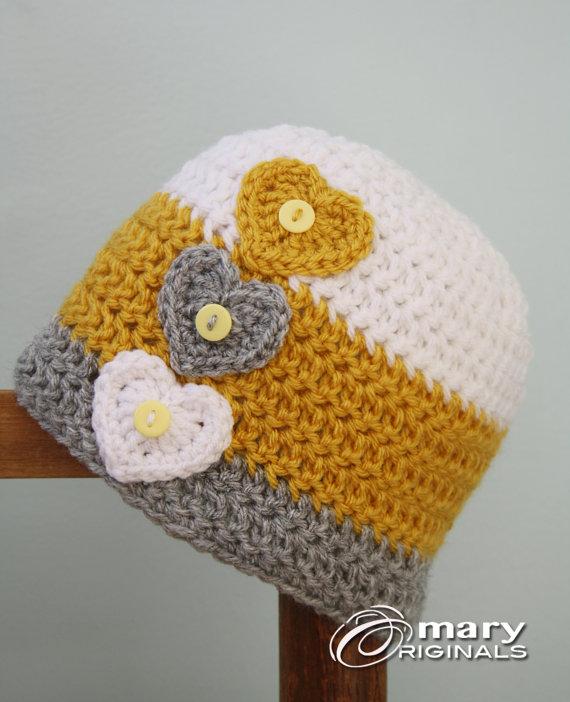 Love Heart Hat, Heart Hat, Crochet Beanie, Children's Clothing, Accessories, Holiday Gift, Girls, Women, Crochet Heart, Valentine's Day