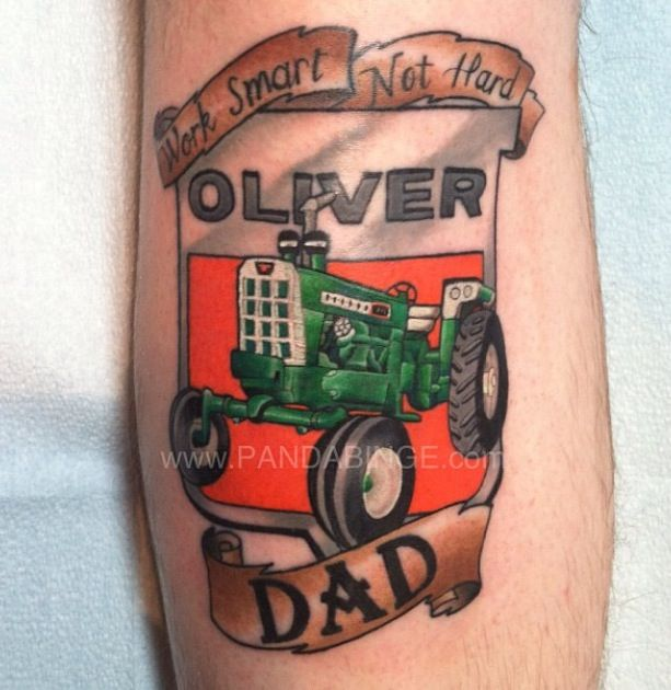 International Tractor Tattoo Designs : Oliver tractor tattoo tattoos pinterest and