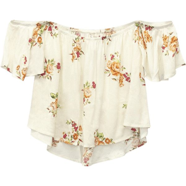 476d525cf5 Short sleeves · California Gypsy™ Flounce Top ( 25) ❤ liked on Polyvore  featuring tops