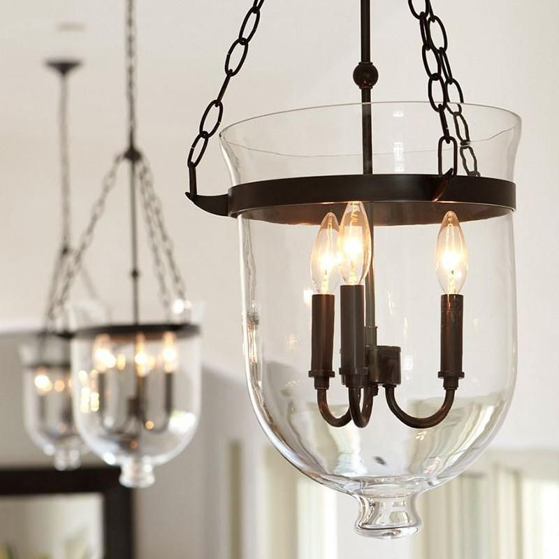 American Country Style Glass Pendant Light With Iron Hardware 129 99 Usd
