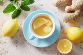 Winter Soothing Fresh Lemon Ginger Tea-#Fresh #Ginger #Lemon #Soothing #tea #Winter