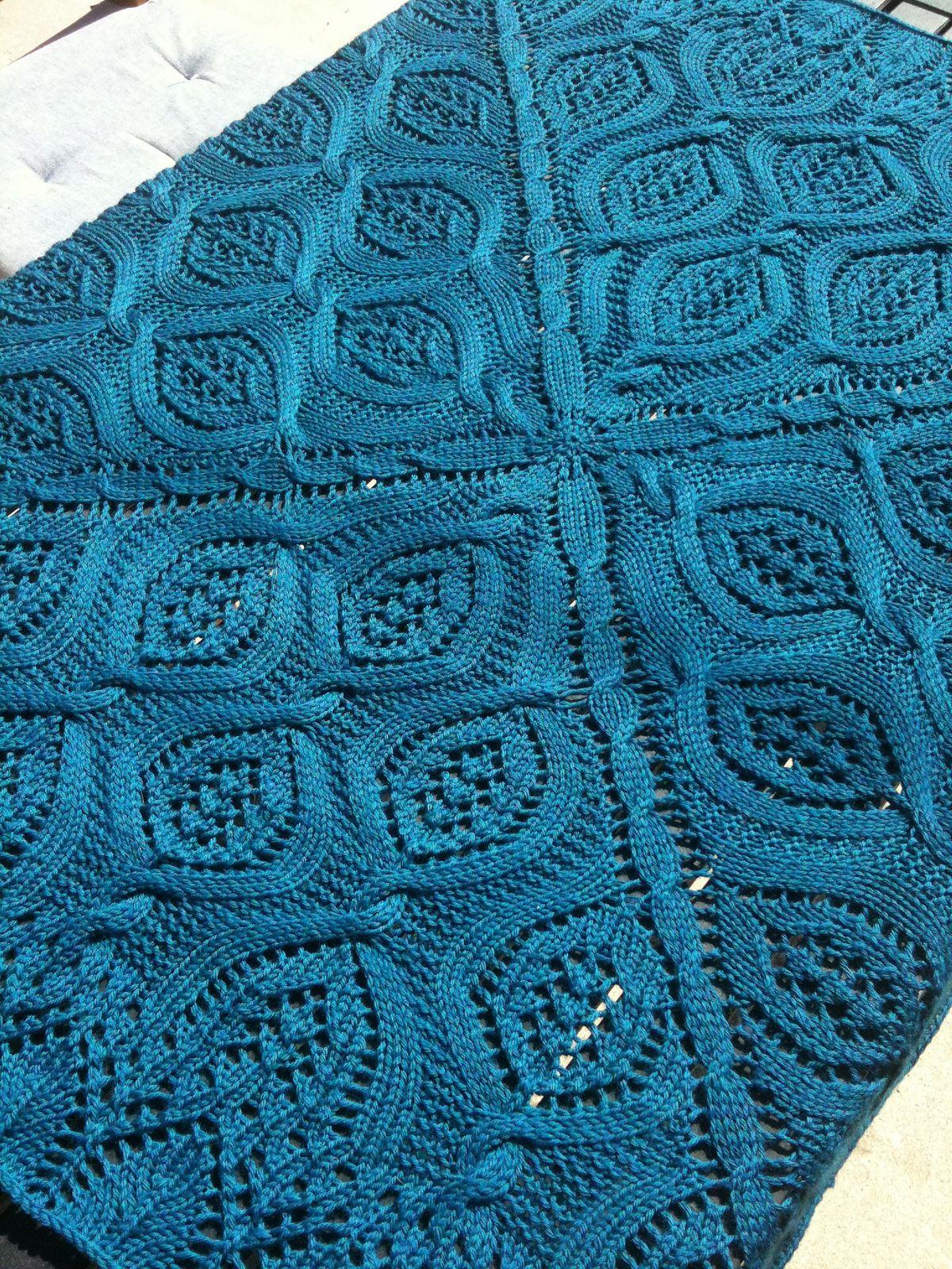 Cable Afghan Knitting Patterns | Pinterest | Serenidad, Manta y Patrones