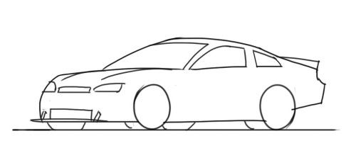 How To Draw A Nascar Race Car Step By Step Car Drawing Kids Car