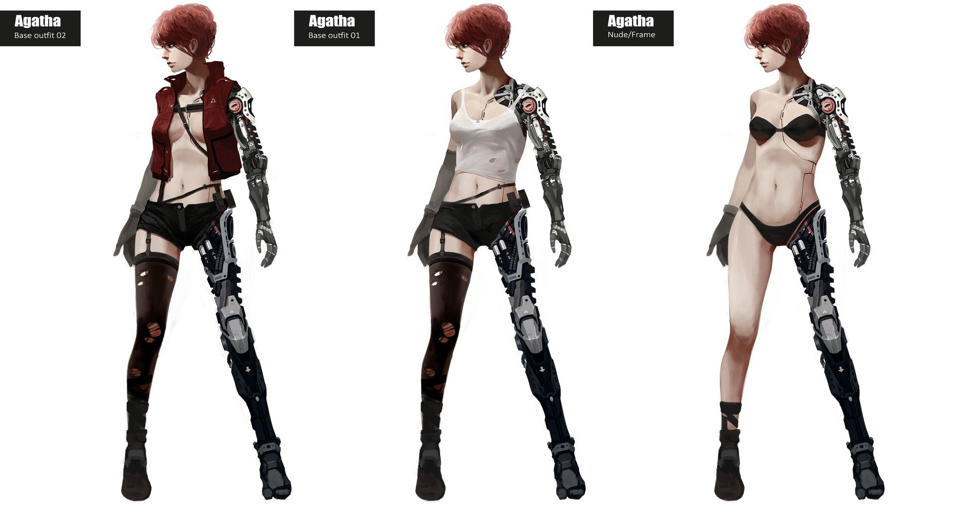 Character Design Side View : Artstation agatha tony sun concept art character