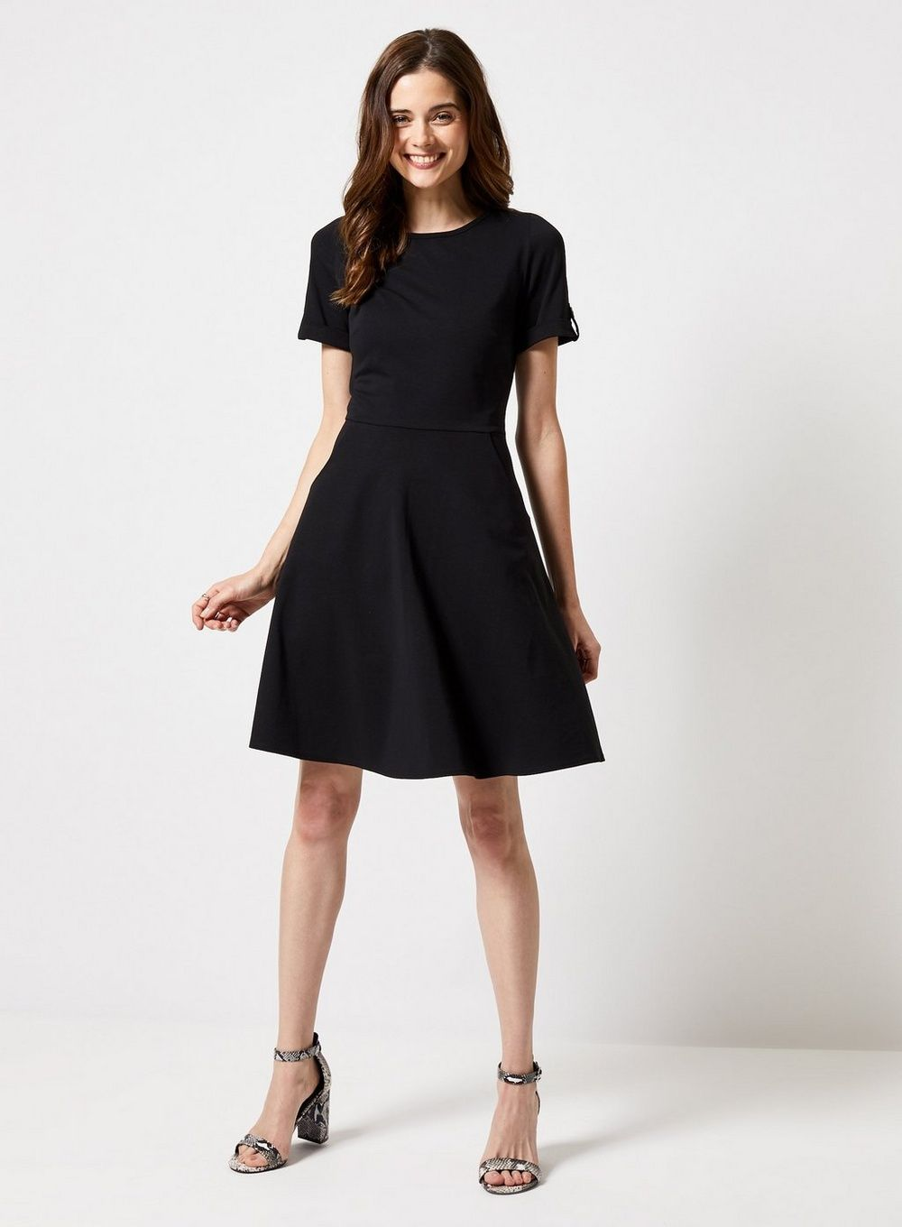 2fc74245bcda Black Short Sleeve T-Shirt Dress - View All New In - New In - Dorothy  Perkins United States