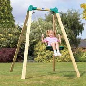 Tp Forest Single Wooden Swing Frame Wooden Swing Frame