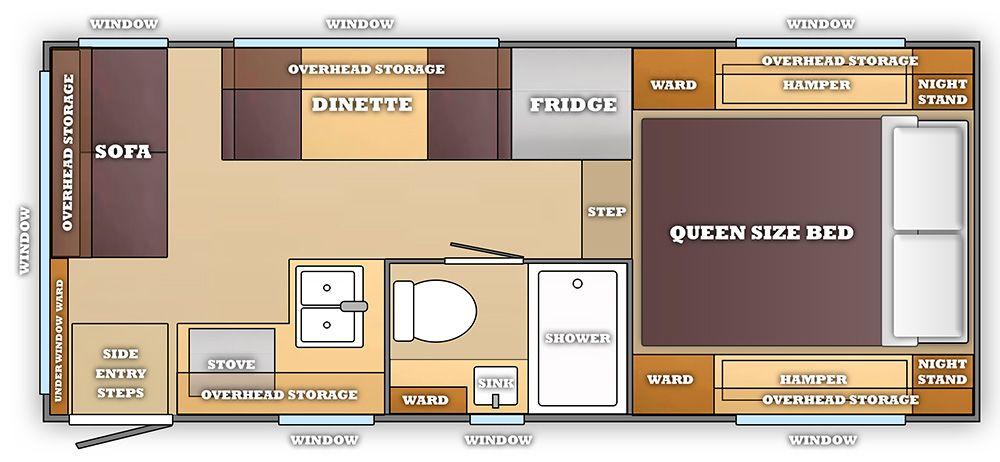 A Dream Camper Floor Plan Camper Flooring Truck Bed Tiny House
