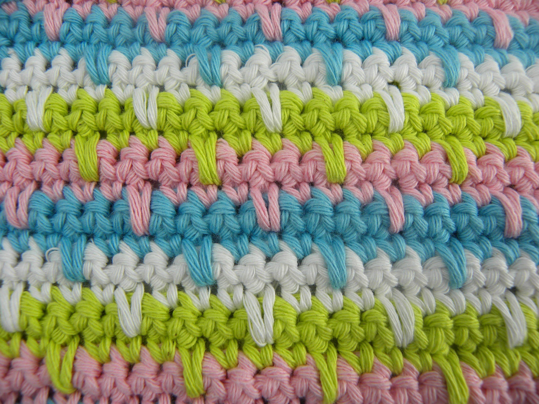 Funky Häkeln Dishcloths Muster Model - Decke Stricken Muster ...