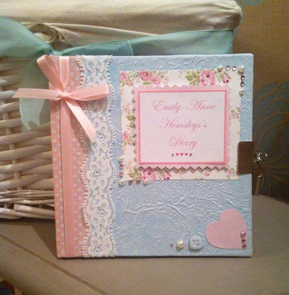 Personalised Young Girls Lockable Secret Diary By