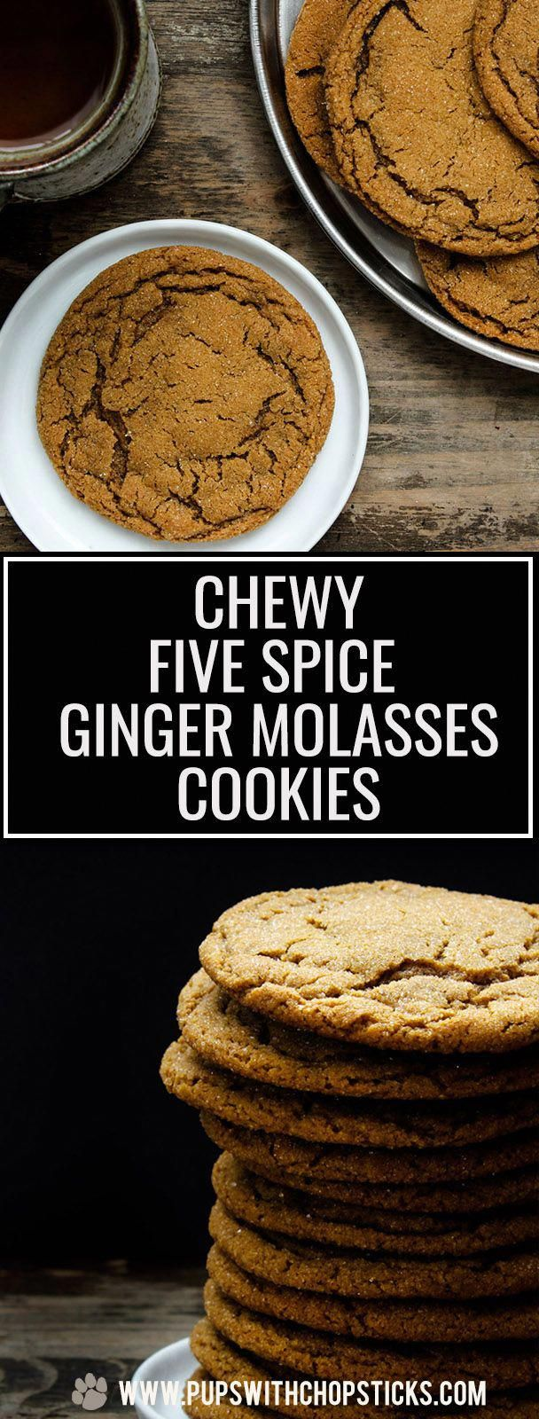 Photo of Chewy Five Spice Ginger Molasses Cookies